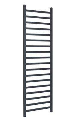 Luisa Square Anthracite Towel Rail 1600mm x 500mm 2088 BTU LUA1600-500