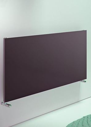 Julietta Horizontal Flat Panel Anthracite Radiator 600mm x 1200mm 2614 BTU