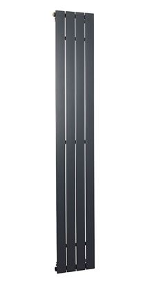 Lorenza Vertical Anthracite Single Radiator 1800mm x 295mm 1890 BTU