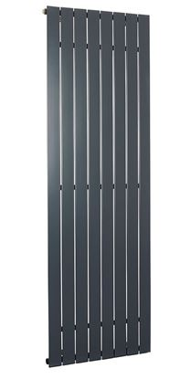 Lorenza Vertical Anthracite Single Radiator 1800mm x 595mm 3781 BTU