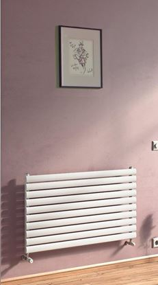 Sofia Horizontal White Single Radiator 584mm x 1000mm 2039 BTU