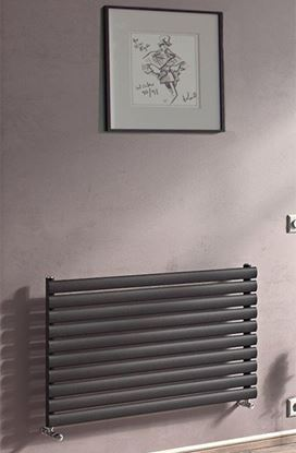 Sofia Horizontal Anthracite Single Radiator 584mm x 1200mm 2448 BTU