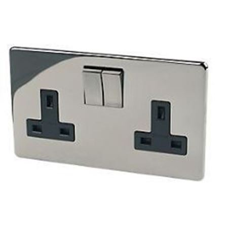 Picture for category Crabtree platinum black nickel switches & sockets