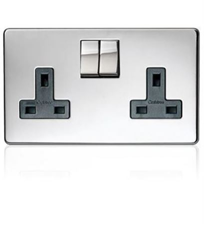 Picture for category Crabtree platinum polished chrome sockets