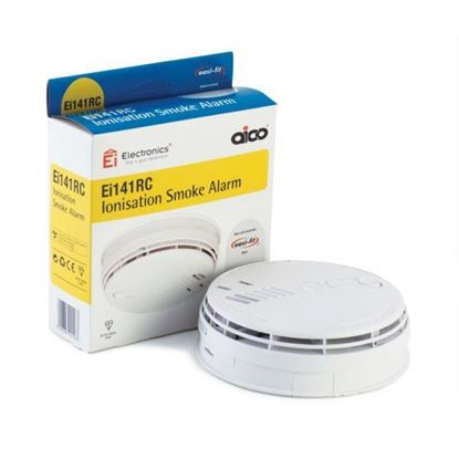 Aico Ei141RC Ionisation Smoke Alarm Mains Powered 230V~ with Battery Back-up