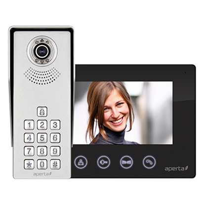 Aperta Video Door Entry Kit APKITKPBLK Colour c/w Keypad Black