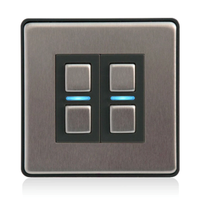 Lightwave Smart Dimmer (2 Gang) Stainless Steel