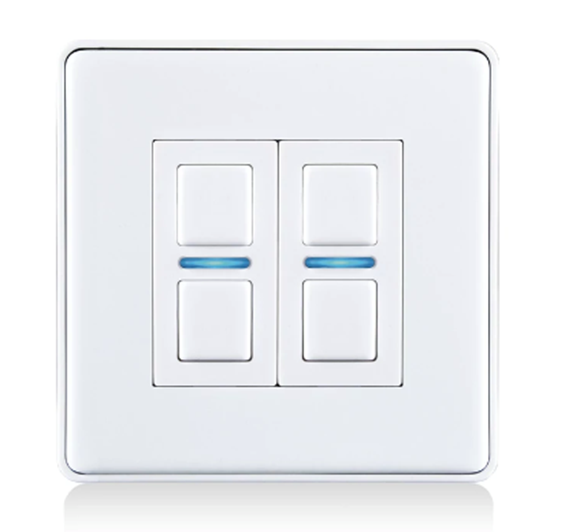 Lightwave Smart Dimmer (2 Gang) White Metal