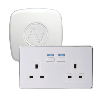 Lightwave Smart Power Starter Kit White Metal L422WH