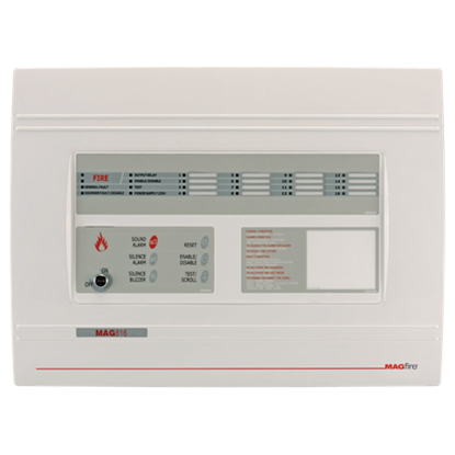 8 Zone Fire Panel Expandable to 16 Zones MAG816