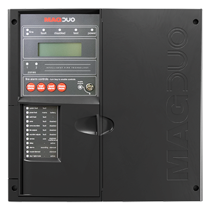 MAGDUO2B  2 Zone Two Wire Fire Panel in Black