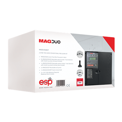 MAGDUO2BKIT  2 Zone Two Wire Conventional Fire Alarm Kit