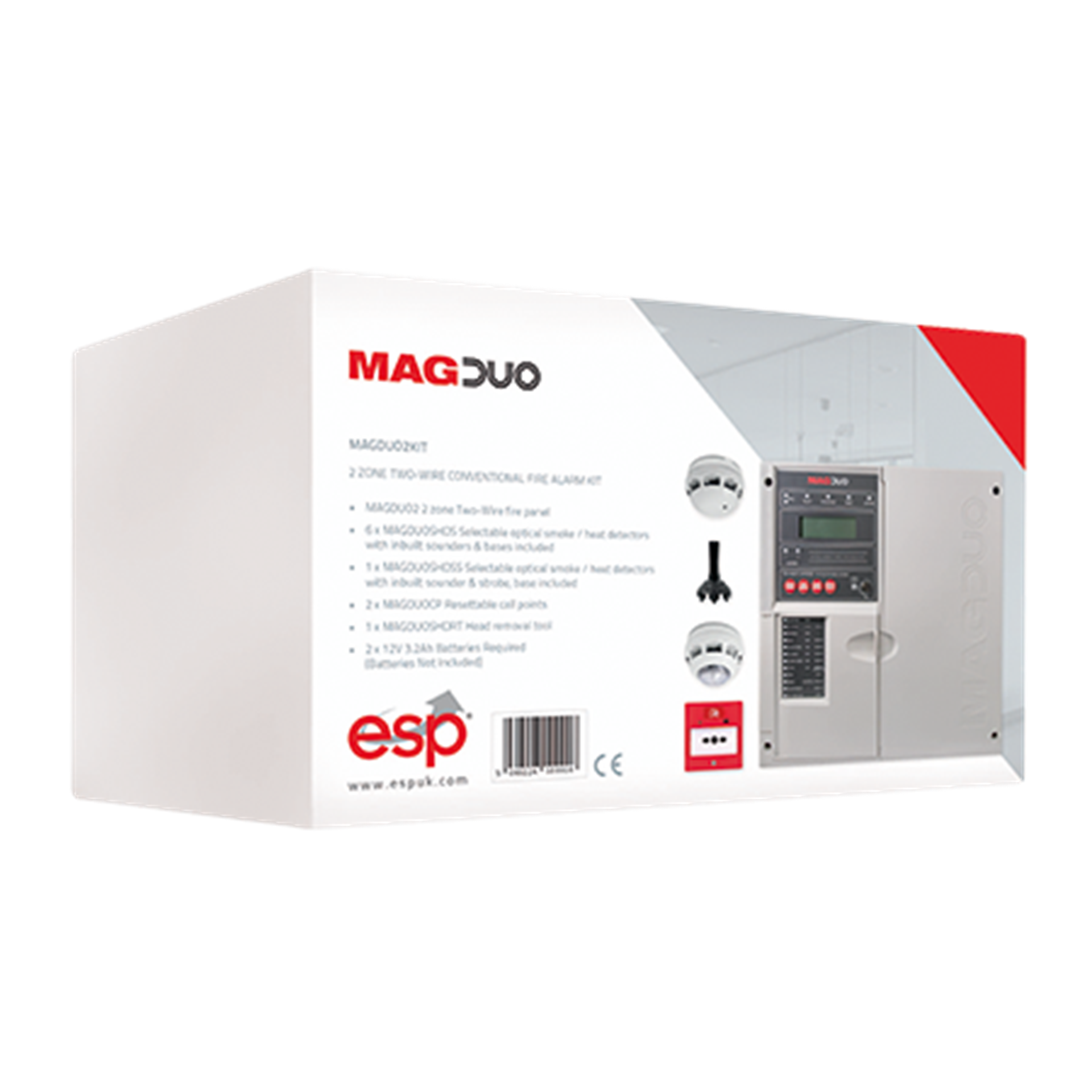MAGDUO2KIT  2 Zone Two Wire Conventional Fire Alarm Kit