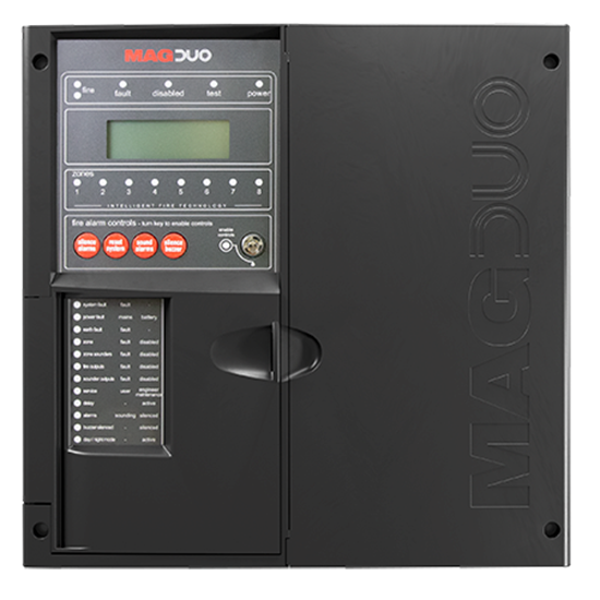 MAGDUO4B  4 Zone Two Wire Fire Panel in Black