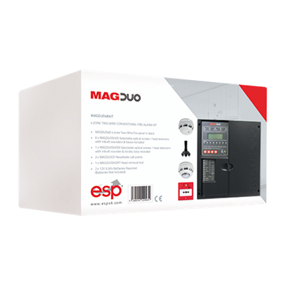 MAGDUO4BKIT  4 Zone Two Wire Conventional Fire Alarm Kit