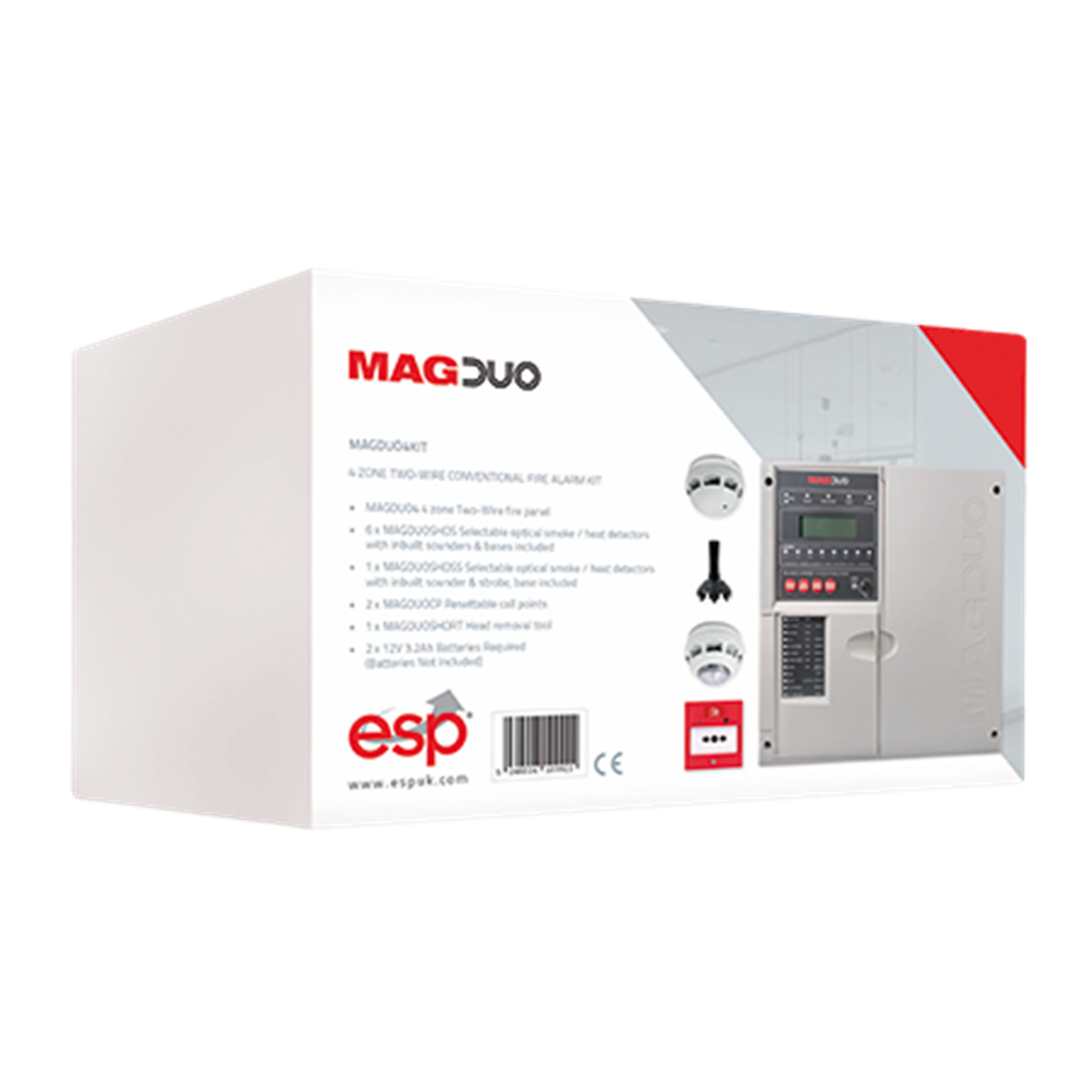 MAGDUO4KIT 4 Zone Two Wire Conventional Fire Alarm Kit