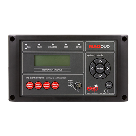 MAGDUOREPB Conventional Repeater Panel for MAGDUO in Black