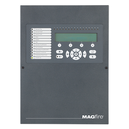 MAGPRO16G Addressable 16 Zone Fire Panel in Graphite Grey