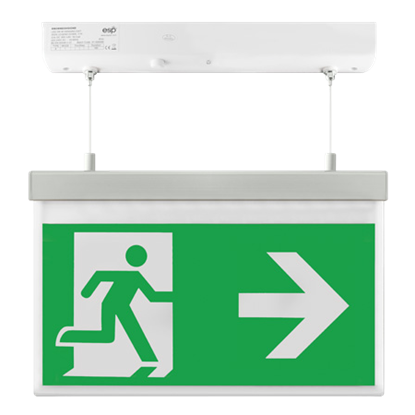 EM2WMEXHSIGNR LED 2W Maintained Hanging Exit Sign Legend Right