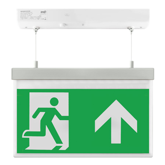 EM2WMEXHSIGNU LED 2W Maintained Hanging Exit Sign Legend Up