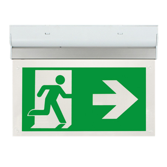 EM2WMEXSIGNR LED 2W Maintained Exit Sign Legend RIGHT