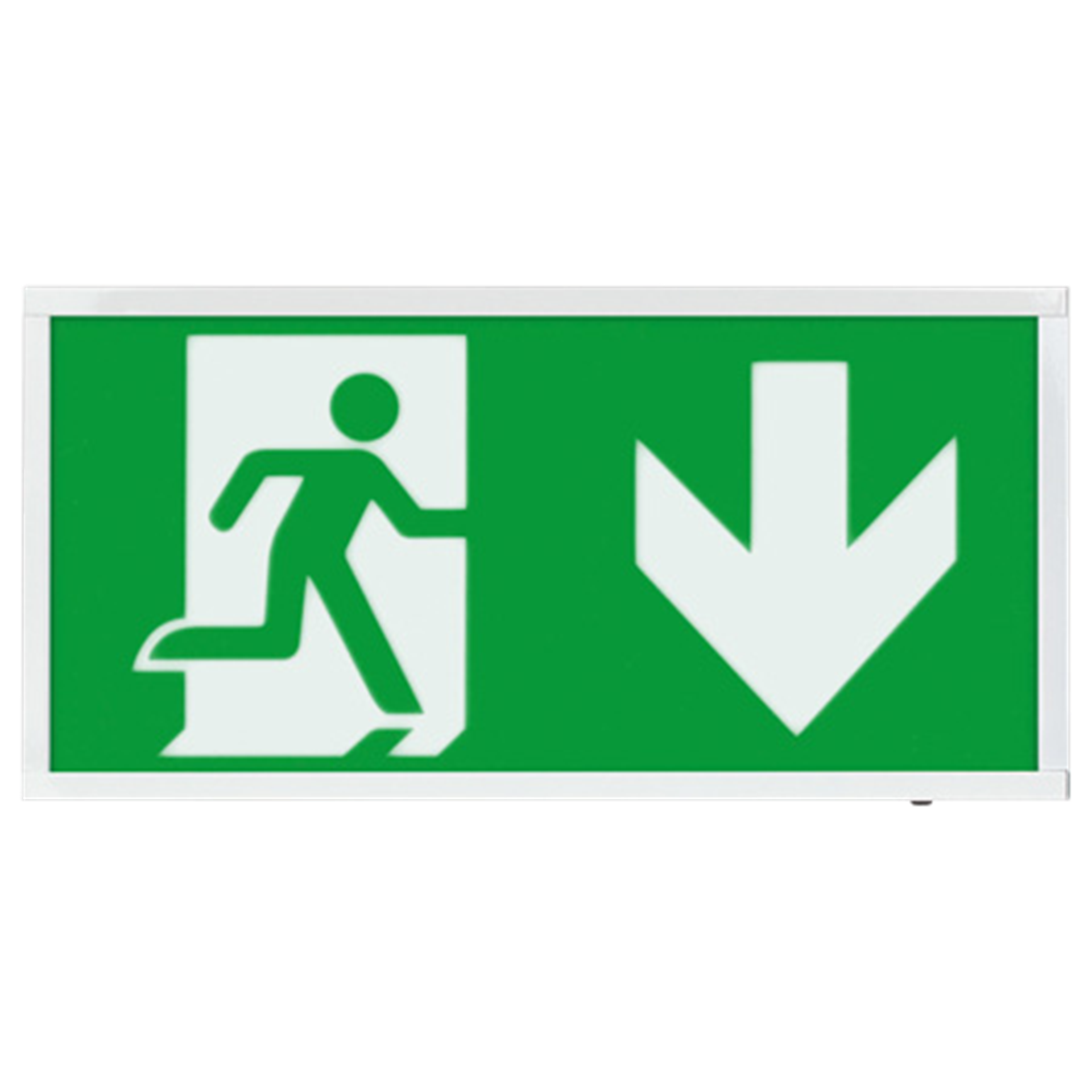 EMLED3WMEXBOXD 3W LED Maintained Emergency Sign DOWN