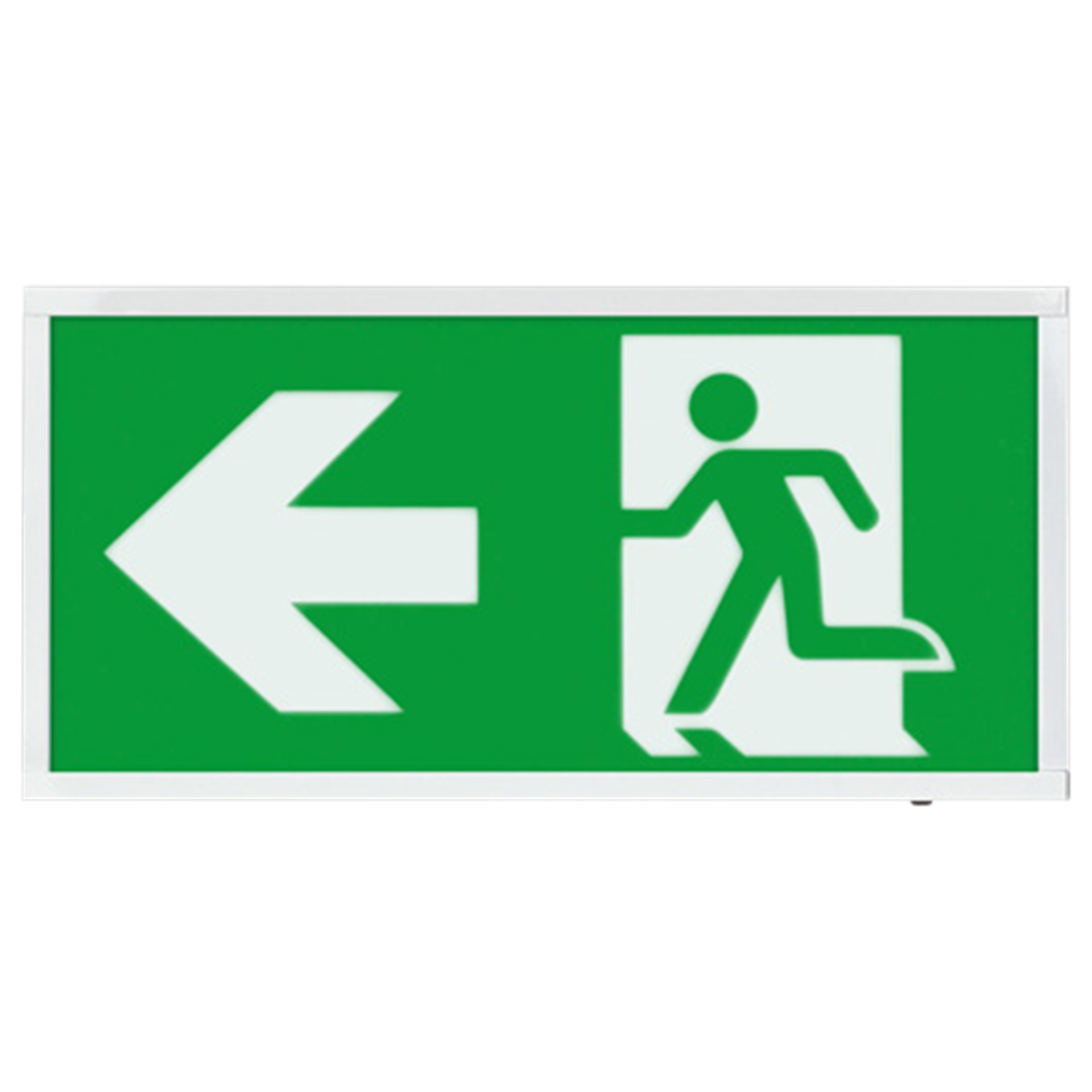 EMLED3WMEXBOXL 3W LED Maintained Emergency Sign LEFT