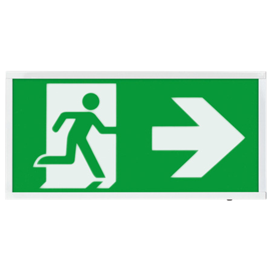 EMLED3WMEXBOXR 3W LED Maintained Emergency Sign RIGHT