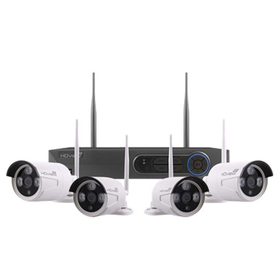 FHDV4KB4WF 4 Channel Full HD 500GB Wire Free CCTV System