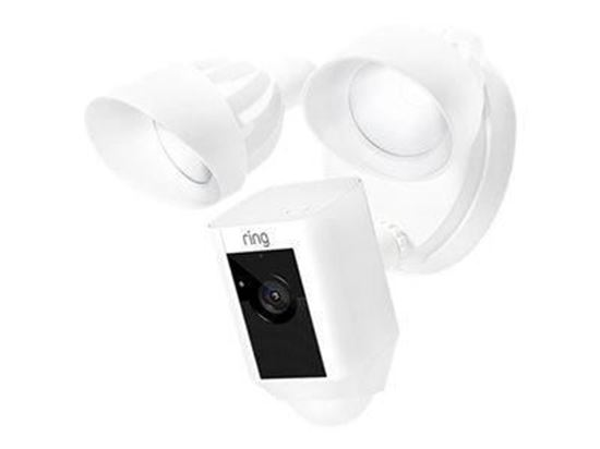 Flood Light Camera with Siren White