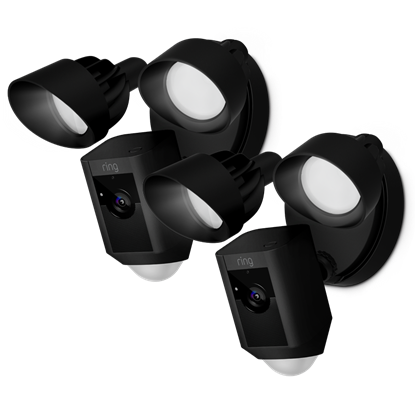 2-Pack Black Floodlight Cams
