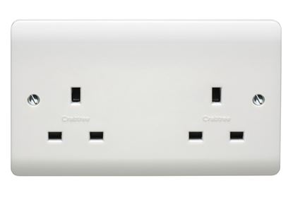 CRABTREE INSTINCT 13A 2G UNSWITCHED SOCKET CR1257