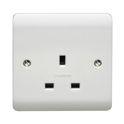 CRABTREE INSTINCT 13A 1G UNSWITCHED SOCKET CR1255