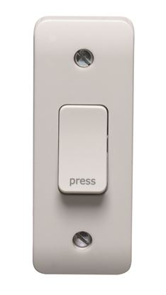 CRABTREE INSTINCT 10A 1G 2 WAY RETRACTIVE ARCHITRAVE SWITCH PRINTED PRESS CR1179/PR