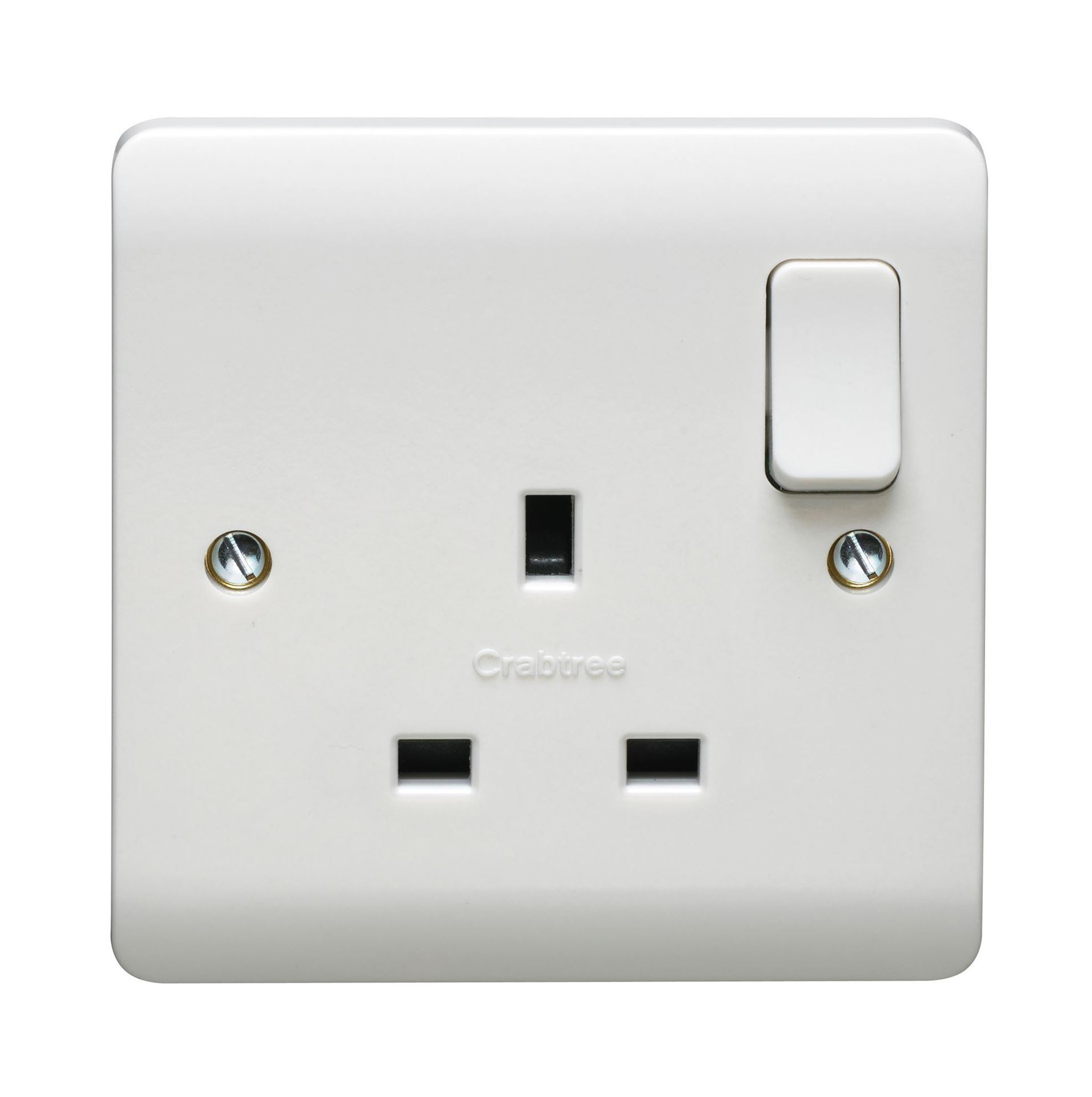 CRABTREE INSTINCT 13A DP 1G SWITCHED SOCKET DUAL EARTH CR1304/D