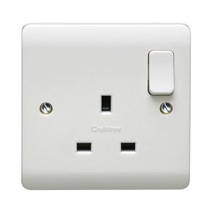 CRABTREE INSTINCT 13A DP 1G SWITCHED SOCKET DUAL EARTH CR1303/D