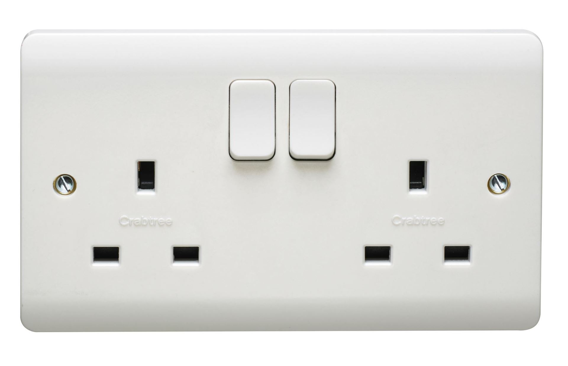 CRABTREE INSTINCT 13A 2G SP SWITCHED SOCKET CR1306