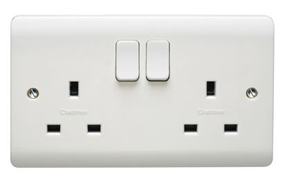 CRABTREE INSTINCT 13A 2G DP SWITCHED SOCKET DUAL EARTH CR1305/D
