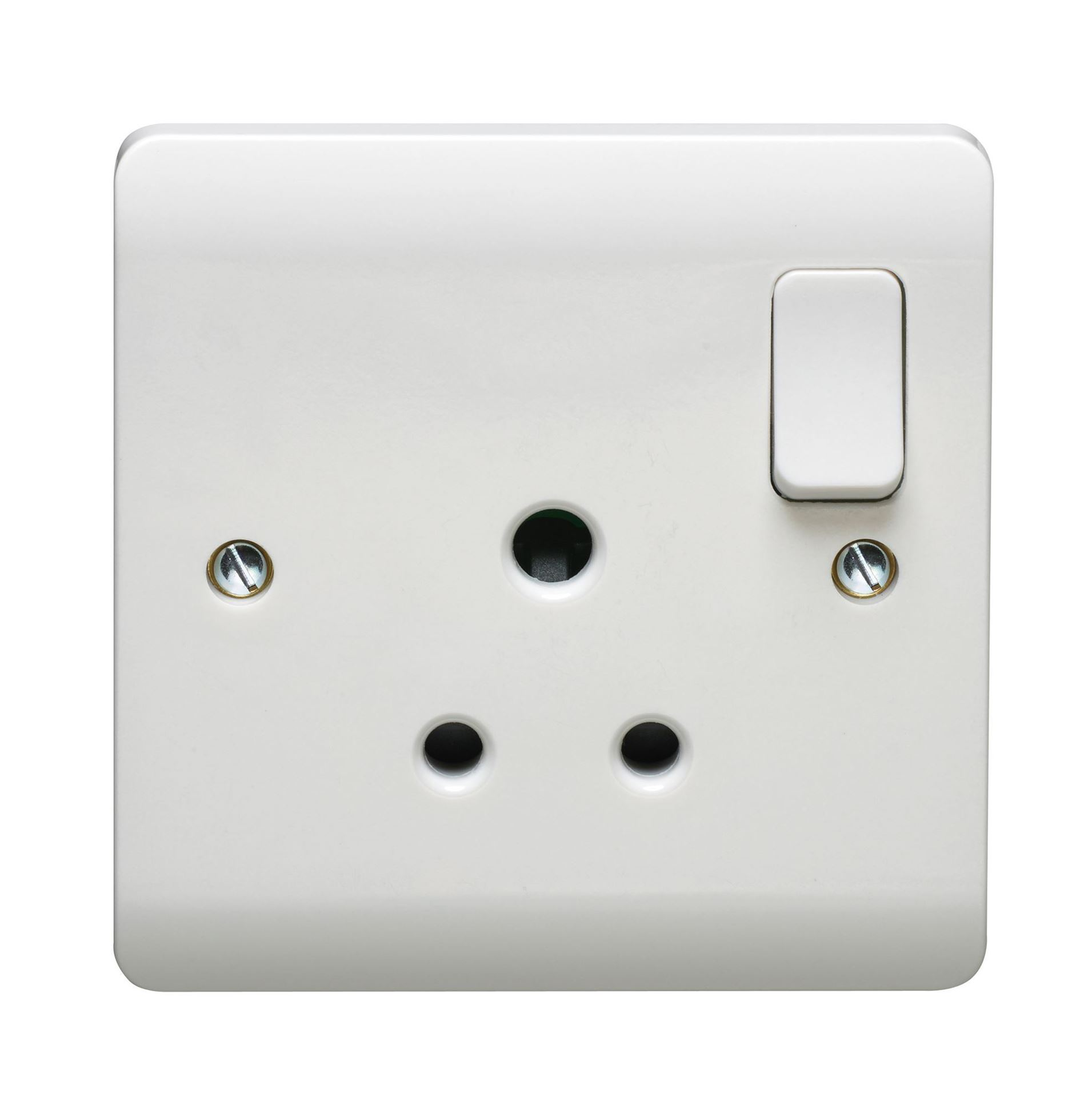 CRABTREE INSTINCT 1G 5A DP SWITCHED SOCKET CR1330