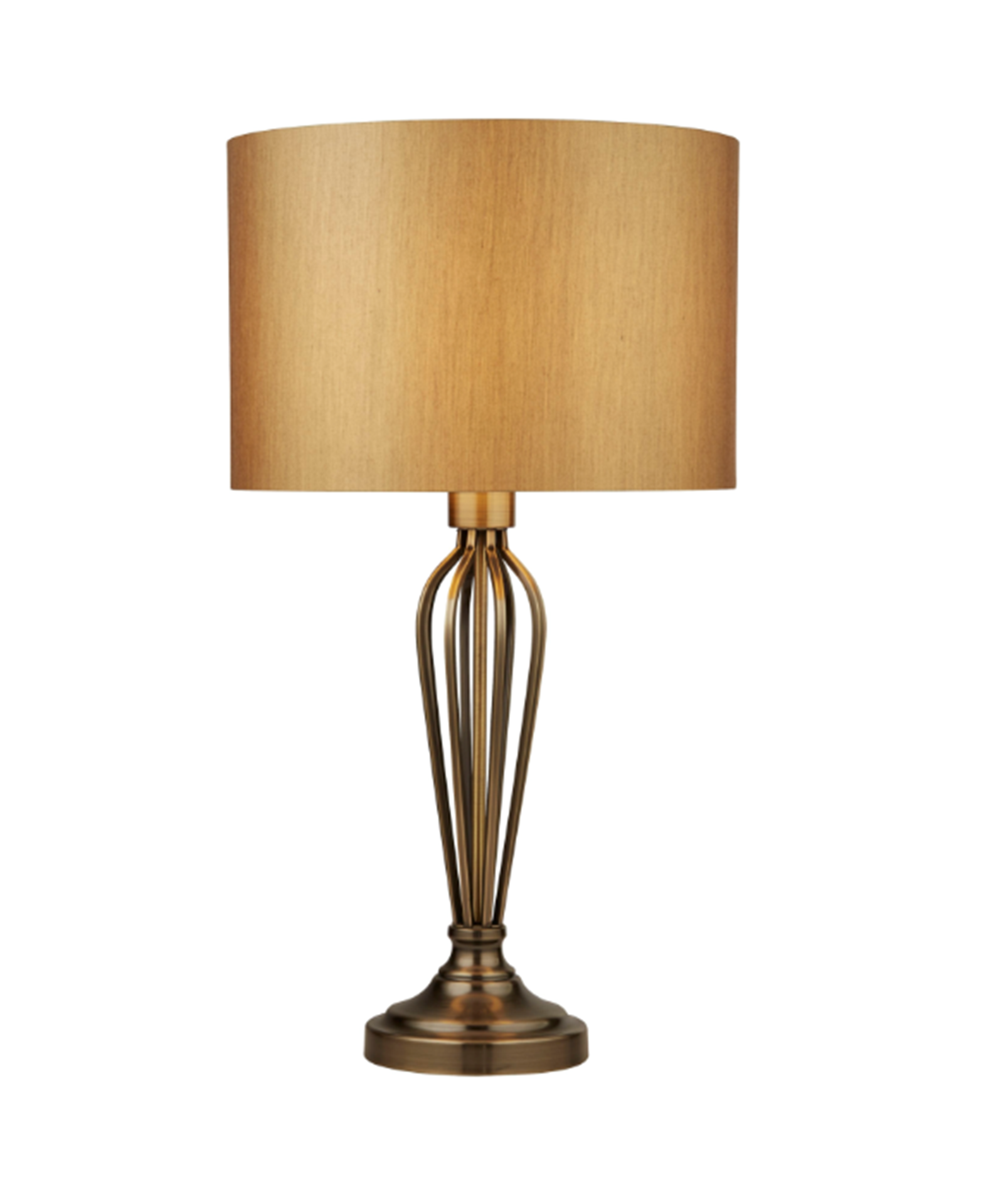 SEARCHLIGHT ANTIQUE BRASS TABLE LAMP WITH GOLD SHADE 2803AB