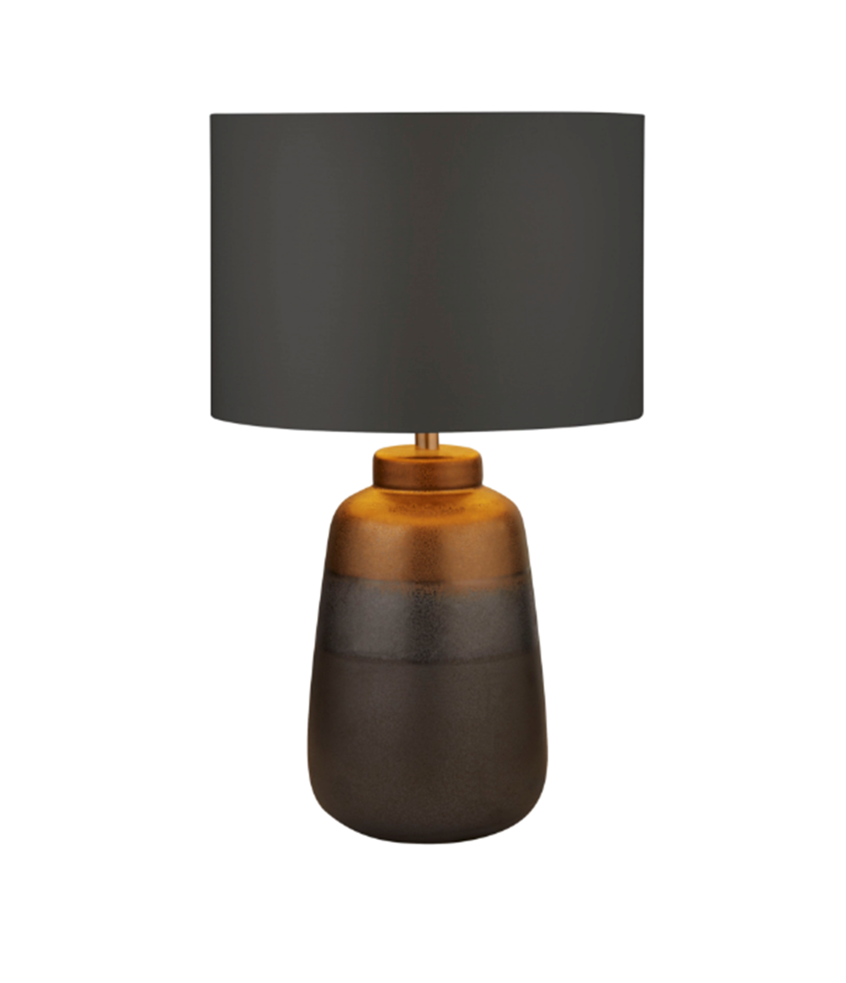 SEARCHLIGHT NAVY/GOLD CERAMIC TABLE LAMP WITH DARK GREY SHADE 2739