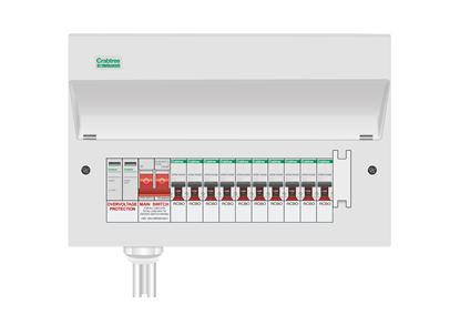 STARBREAKER CONSUMER UNIT WITH INTEGRAL TYPE 2 SURGE PROTECTION Main Switch + SPD + 2 502/2BS