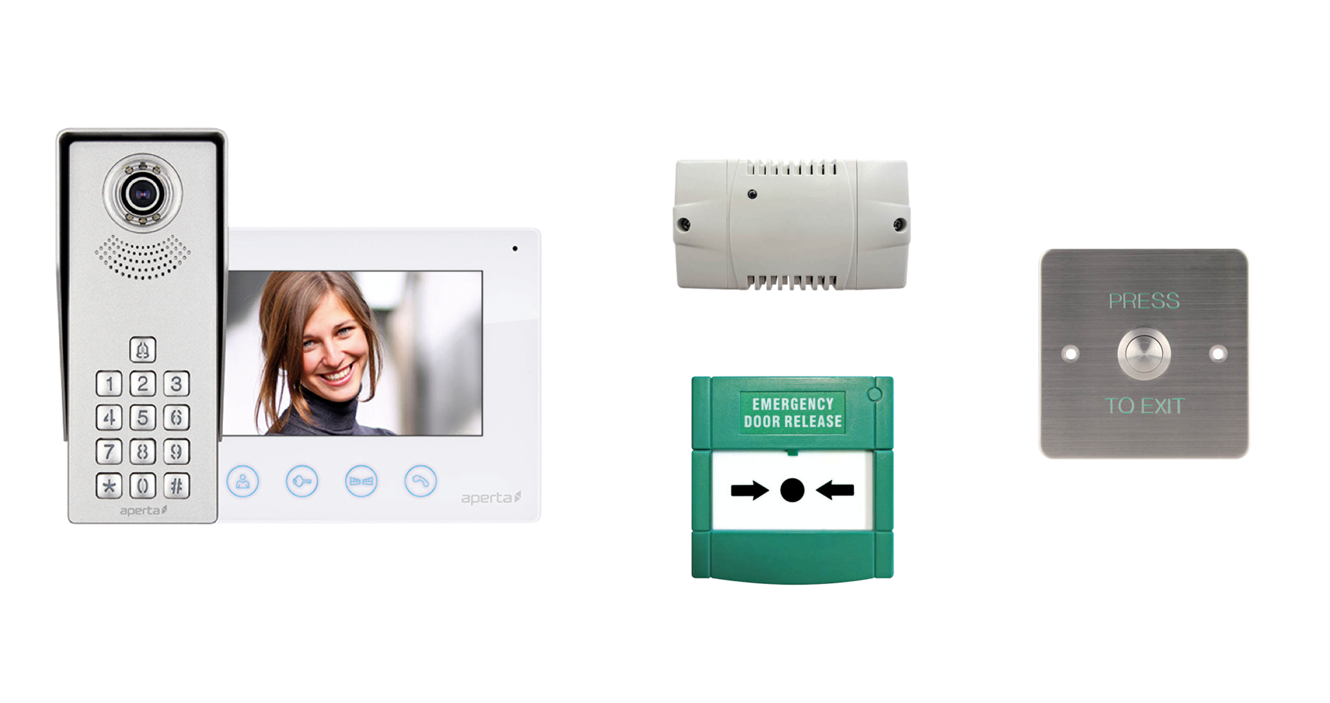 Picture of APKITKP  Bundle Colour Video Door Entry Keypad System